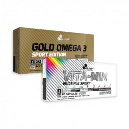 Zestaw OLIMP VIta-Min Multiple 60 kaps  + Olimp Gold omega 3 120kaps