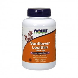 Suplement prozdrowotny NOW Foods Lecithin 1200mg 100 kaps