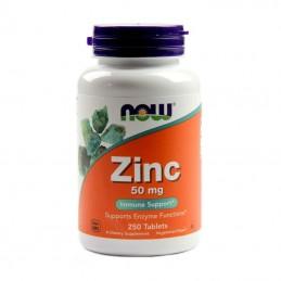 NOW Foods Zinc Cynk 50 mg 250 tabl.