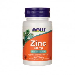 Minerały NOW Foods Zinc Cynk 50 mg 100 tab