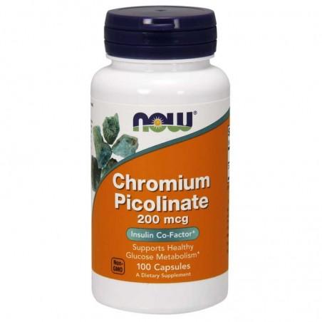Minerały NOW Foods Chromium Picolinate 100 kaps
