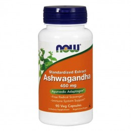 Suplement prozdrowotny NOW Foods Ashwagandha 450mg 90 vkaps