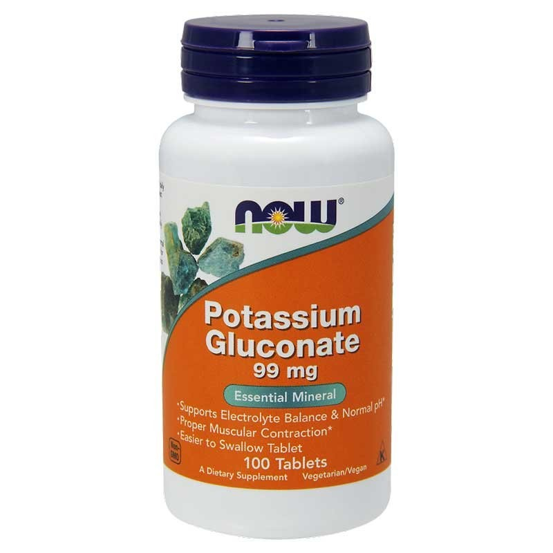 Now Foods Potassium Gluconate 99 mg