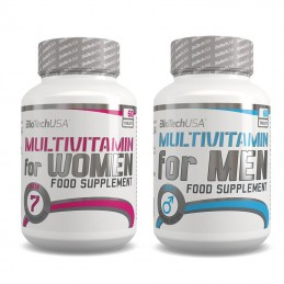 BIOTECH MULTIVITAMIN FOR MEN 60 tab + MULTIVITAMIN FOR WOMEN 60 yab