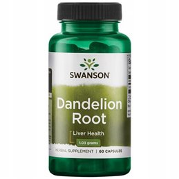 Wsparcie wątroby Swanson Dandelion Root 515mg 60caps
