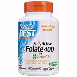 Suplement Prozdrowotny Doctor's Best Fully Active Folate 400mcg Vege 90caps
