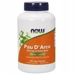 Suplement prozdrowotny NOW Foods Pau D'Arco, 500mg 100 vcaps