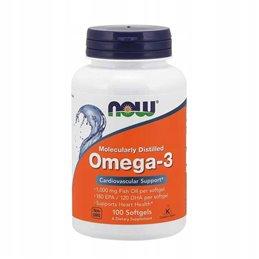 Kwasy tłuszczowe NOW Foods Omega 3 100 softgel