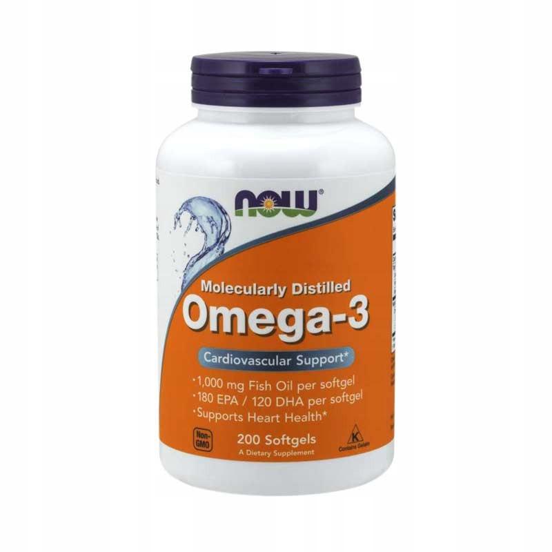 Kwasy tłuszczowe NOW FOODS Omega 3 200 softgels